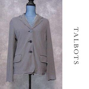 Talbots Blue & White Striped Knit Blazer Size L